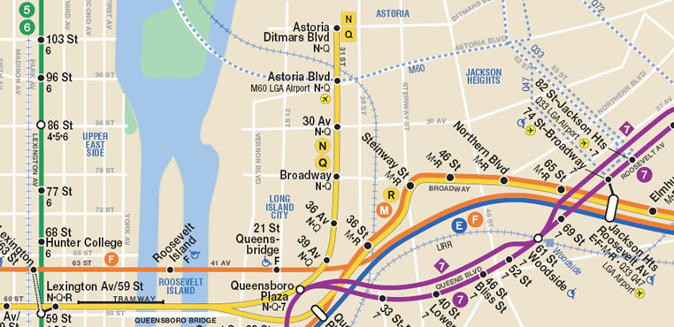 subway map astoria